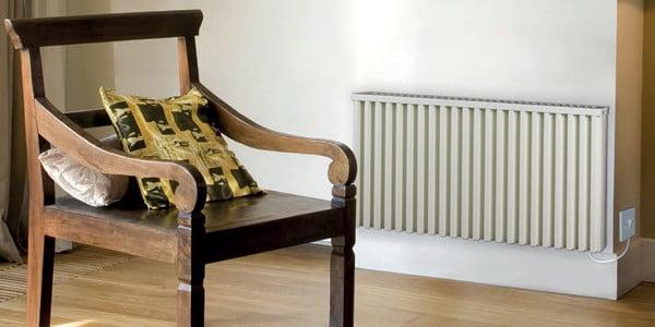 Stuhl und Heizung