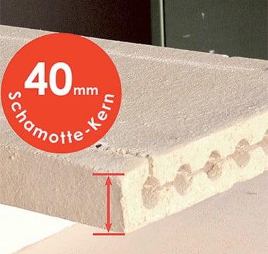 40mm schamotte-kern