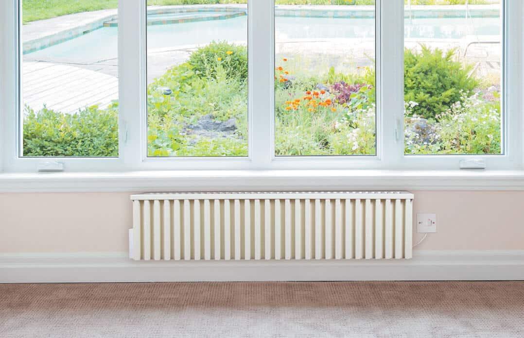 speicherheizungen f r den wintergarten von fischer future heat. Black Bedroom Furniture Sets. Home Design Ideas